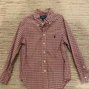Ralph Lauren plaid boys dress shirt size 8.